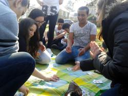 Picknick mit Kartenspiel